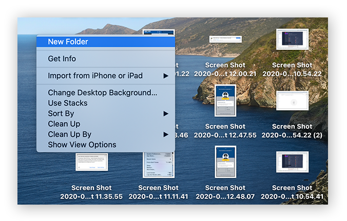 A cluttered desktop can make your Mac run slow.