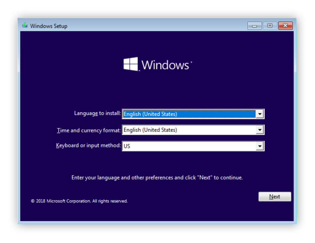 Opening the Windows startup wizard