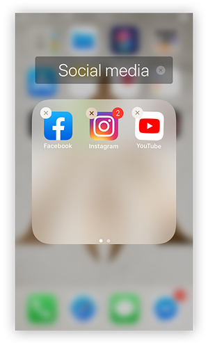 Here's how to add the app you want to hide in a folder.