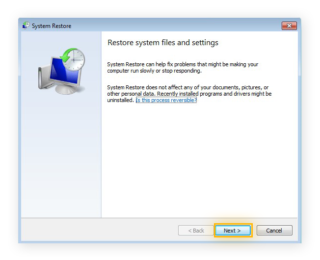 Performing a System Restore in Windows 7 Ultimate