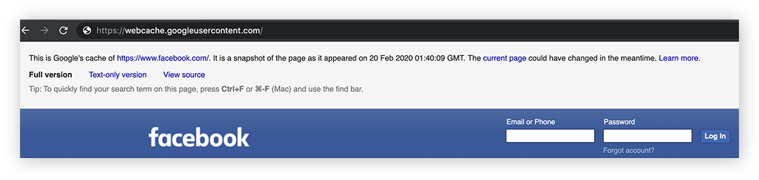 The cached version of a site might be old, but should still work normally.