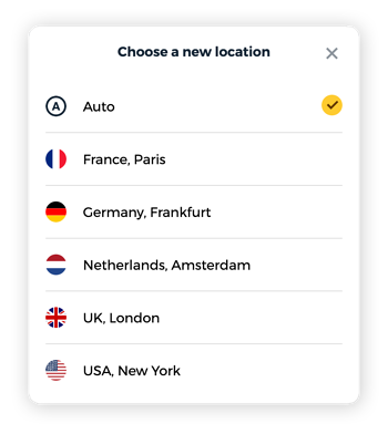 "Choose ""disguised as"" to get several location options."