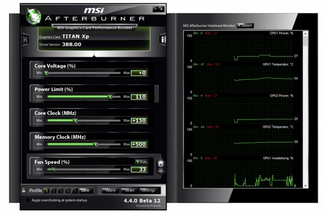 MSI Afterburner zum Übertakten von GPUs