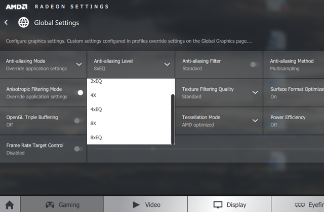 AMD Radeon Settings (Anti Aliasing)