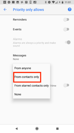 Here's how to use Do Not Disturb mode on Android to whitelist only the calls you want.