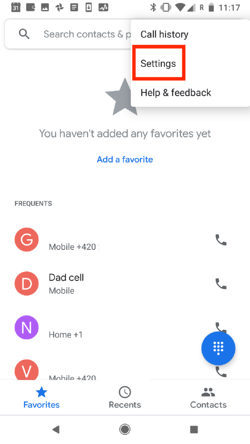 Follow these steps to enable Google's call filtering against robocalls.