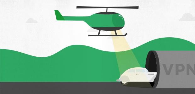 Wie ein VPN funktioniert: das Auto und der Tunnel