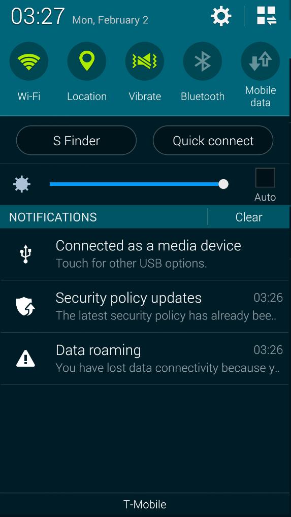 Samsung S Finder Screenshot