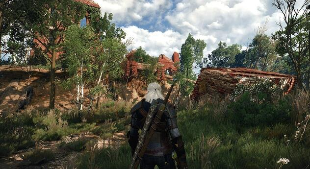Capture d'écran de The Witcher