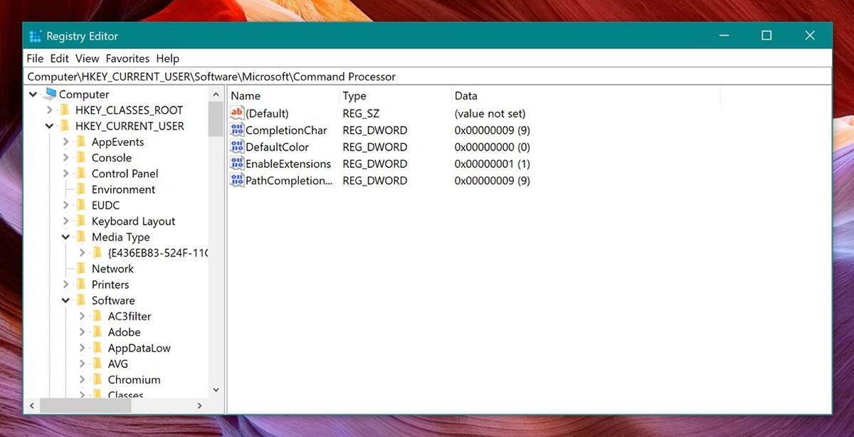 What the Windows registry looks like