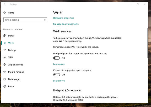 Die WLAN-Einstellungen in Windows 10