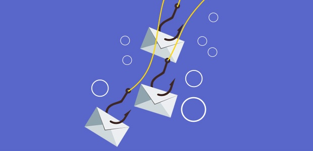 Emails hooked on a phishing line.