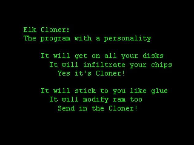 "Gedicht des Virus ""Elk Cloner"""