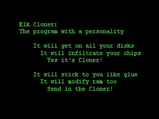 Elk clone virus poem