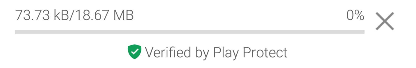 The play protect logo in Google Play.