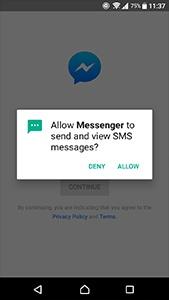 Beispiel-Screenshot für eine Android-App-Berechtigungsanforderung