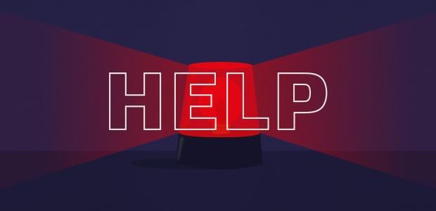 Red siren alert calling for help