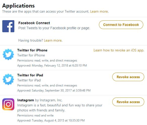 How to manage which apps get access to your Twitter account