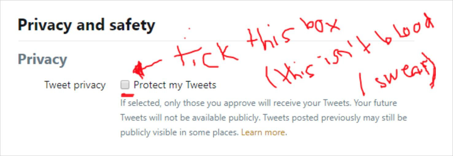 How to protect your tweets in the Twitter privacy and safety menu