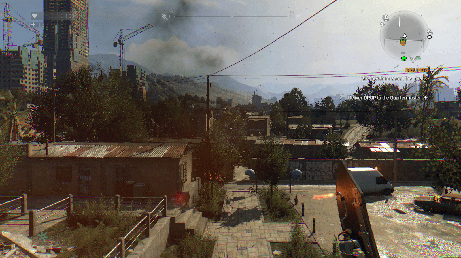 A screenshot from Dying Light, the game