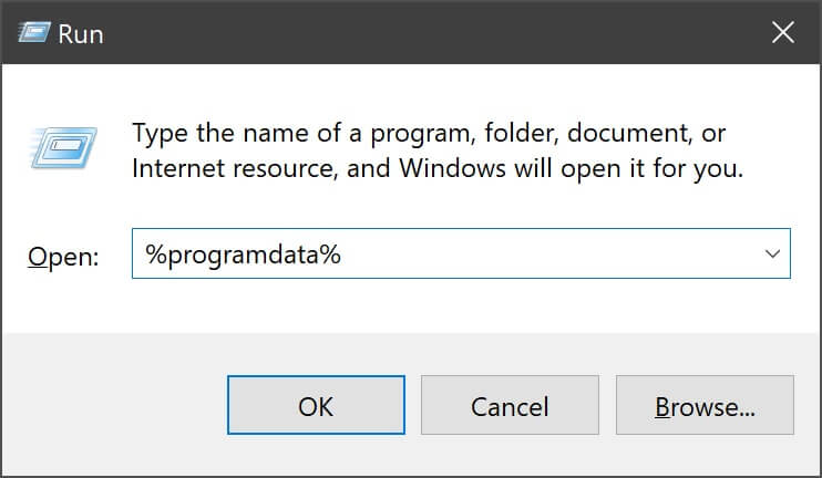 How to uninstall apps using the program data command line in Windows