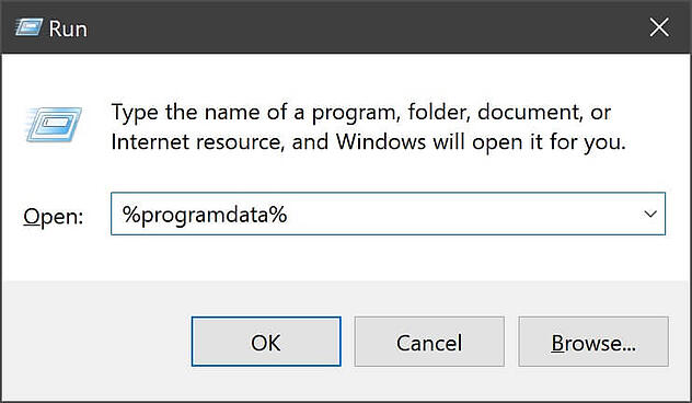 Comment désinstaller des applications à l'aide de la ligne de commande program data sous Windows