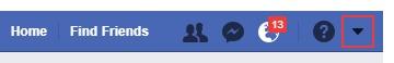 find your facebook settings menu
