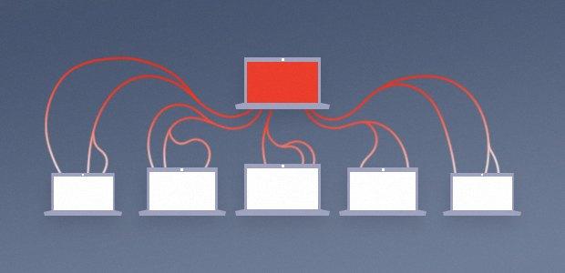 Diagram of a client-Server model botnet