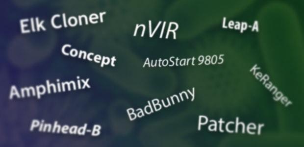 Nomi di malware per Mac noti