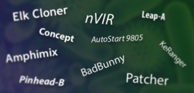Famous mac malware