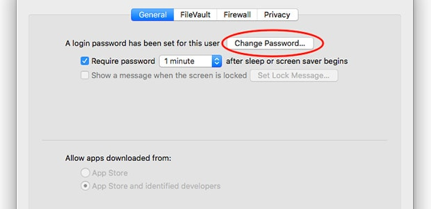 How to change your Mac password