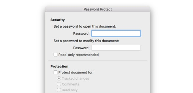How to password-protect a Word document on your Mac