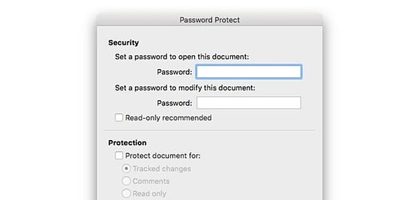 Come proteggere tramite password un documento di Word nel Mac
