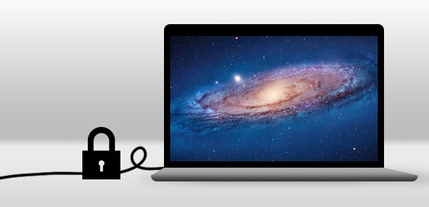 A cable lock for MacBooks can prevent theft