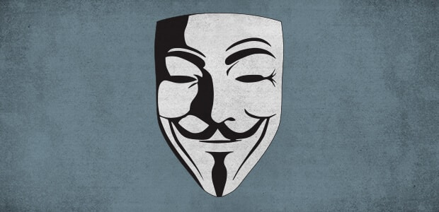 Le masque Anonymous de Guy Fawkes