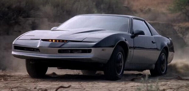 An image of KITT, the original smart car.