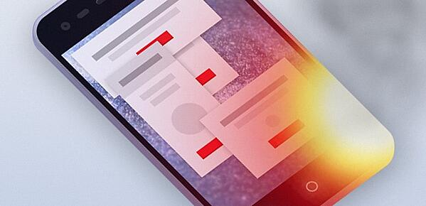 An infected mobile phone displaying popups and heating up