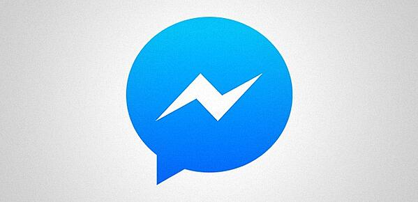 Logotipo do aplicativo do Facebook Messenger