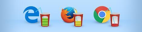 Comparação da duração de bateria entre Chrome, Edge, Firefox e Opera
