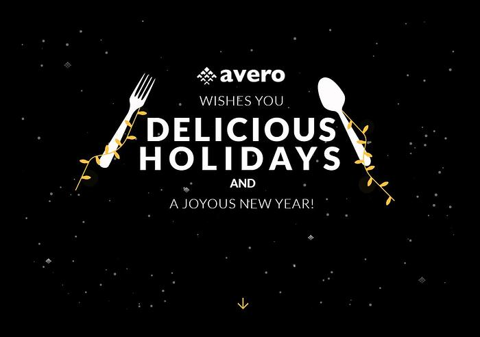Happy Holidays from your Avero family!