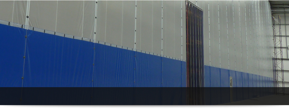 Banner Dividing Screens Factory Partitioning Systems Work Zoning Systems
