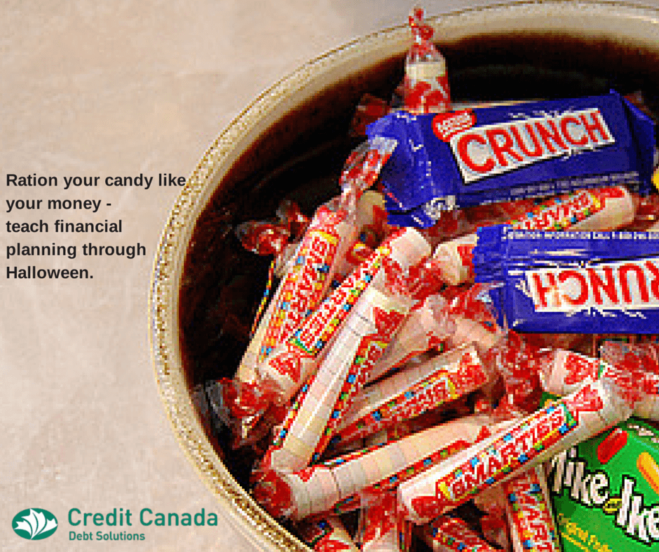 Ration your candy like your money - teach financial planning through Halloween.