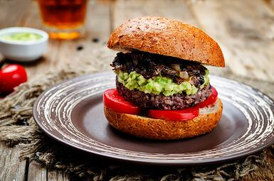 Black Bean Guacamole Burger small