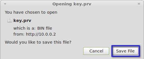 open key file