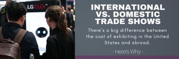 International vs. Domestic Trade Shows