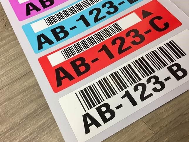 bin label