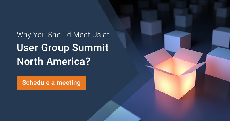 Why You Should Meet Us At the User Group Summit North America