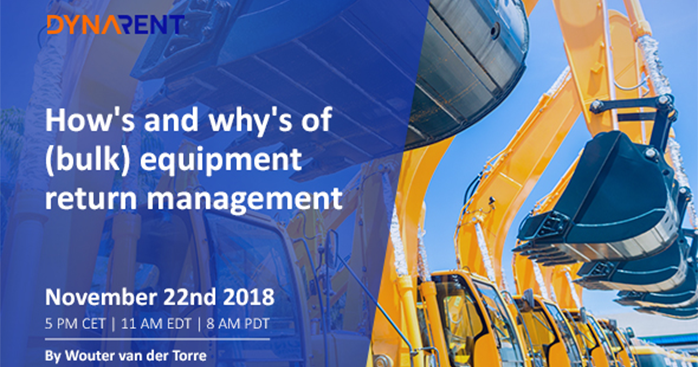 Webinar: The how's and why's of (bulk) equipment return management