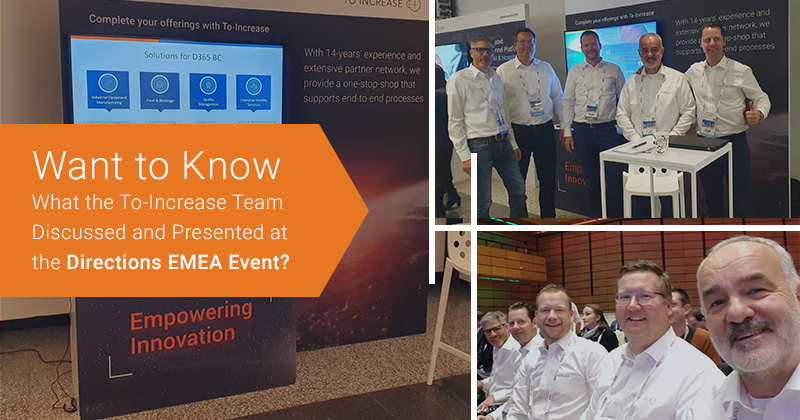 Want to Know What the To-Increase Team Discussed and Presented at the Directions EMEA Event?