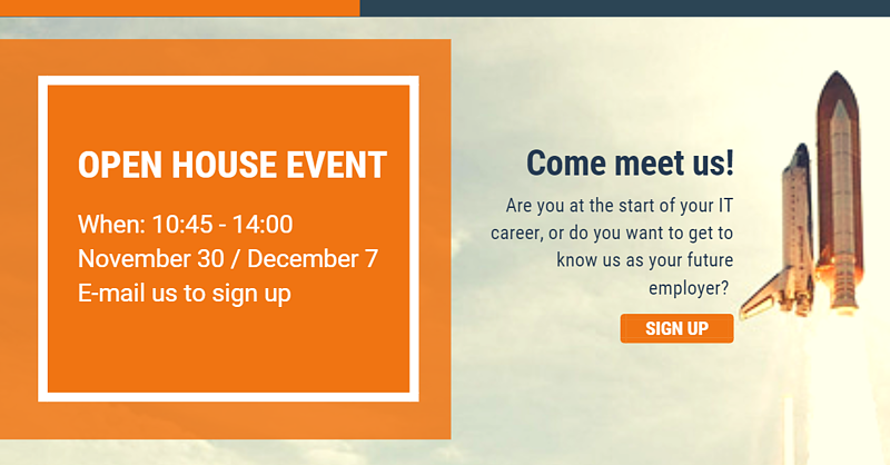 Come meet us at one of our open house events